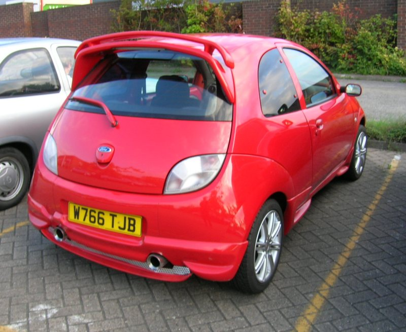 Sfs Red Ford Ka With Bonnet Scoop